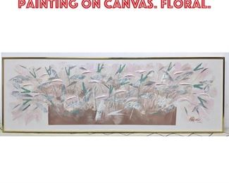 Lot 2317 LEE REYNOLDS Oil Painting on Canvas. Floral.