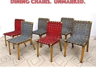 Lot 2325 Set 6 ALVAR AALTO style Dining Chairs. Unmarked.