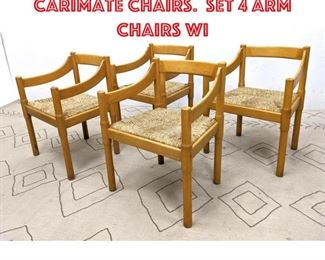 Lot 2327 VICO MAGISTRETTI Carimate Chairs. Set 4 Arm Chairs wi