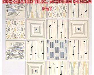 Lot 2329 15pcs RICHARD GINORI Decorated Tiles. Modern design pat