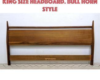 Lot 2332 Mid Century Modern King Size Headboard. Bull horn style