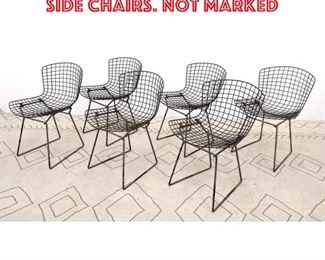 Lot 2334 Set 6 HARRY BERTOIA Grid Side Chairs. Not marked