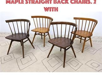 Lot 2338 Knoll for Nakashima Maple Straight Back Chairs. 2 with