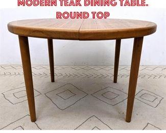 Lot 2340 VEJLE STOLE Danish Modern Teak Dining Table. Round Top