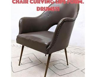 Lot 2344 Italian Modern Lounge Chair Curving Lips Form. Drumsti