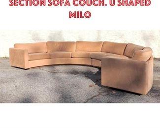 Lot 2359 THAYER COGGIN Inc. 2 Section Sofa Couch. U shaped Milo