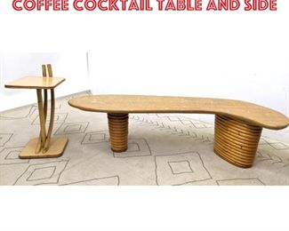 Lot 2362 PAUL FRANKL Biomorphic Coffee Cocktail Table and Side
