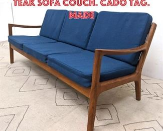 Lot 2364 France and Sons Danish Teak Sofa Couch. CADO Tag. Made