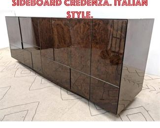 Lot 2365 High Glass Lacquer Sideboard Credenza. Italian Style.