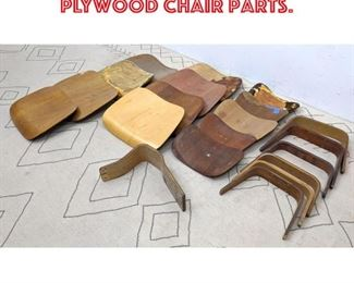 Lot 2366 Large lot EAMES molded plywood chair parts.