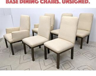 Lot 2367 6 Mastercraft Bronze Base Dining Chairs. Unsigned.