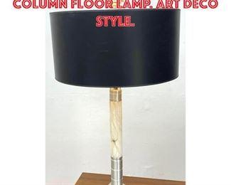 Lot 2368 Tall turned Aluminum Column Floor Lamp. Art Deco style.