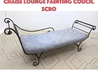 Lot 2369 Decorator Iron Frame Chaise Lounge Fainting Couch. Scro