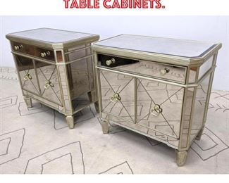 Lot 2371 Pair Mirrored Side Table Cabinets.