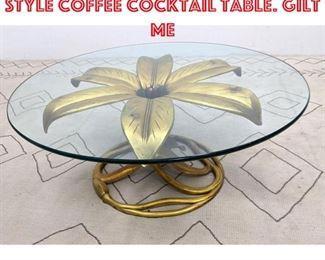 Lot 2372 Large ARTHUR COURT Style Coffee Cocktail Table. Gilt Me
