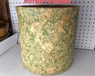 Lot 2457 Swirled corked covered pottery planter