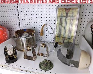 Lot 2466 Michael Graves Alessi Design tea kettle and clock lot S