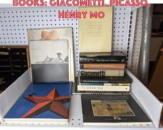Lot 2469 Lot Design and Art Books Giacometti, Picasso, Henry Mo