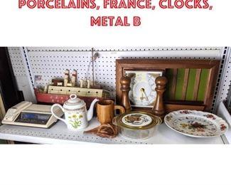 Lot 2470 Georges Briard lot, porcelains, France, clocks, metal b