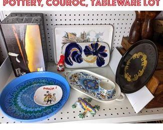 Lot 2471 Orrefors, Gaudi Ben pottery, Couroc, tableware lot