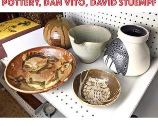 Lot 2473 Art Pottery lot, Lapid Pottery, Dan Vito, David Stuempf