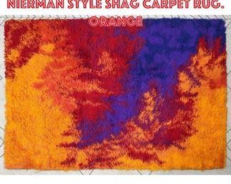 Lot 2484 6 8x4 7 Colorful Nierman Style Shag Carpet Rug. Orange