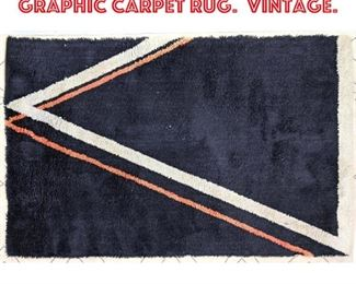 Lot 2499 68.5 x 48 Modernist Graphic Carpet Rug. Vintage.