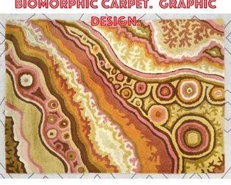 Lot 2500 6 x4 2 Modernist biomorphic carpet. Graphic design.