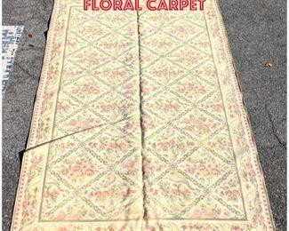 Lot 2506 11 6x8 Custom floral Carpet