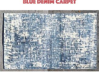 Lot 2507 12 x9 Distressed style blue denim carpet