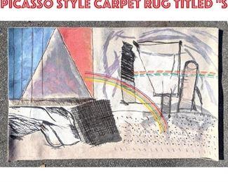 Lot 2508 6 4x8 3 CALMAN SHEMI Picasso style Carpet Rug titled S
