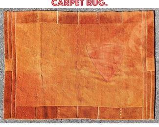Lot 2512 5 6x7 9 Modernist Orange Carpet Rug.