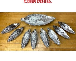 Lot 2524 Michael Aram Corn Dishes.