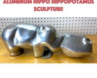 Lot 2526 David Parkin Cast Aluminum Hippo Hippopotamus Sculpture