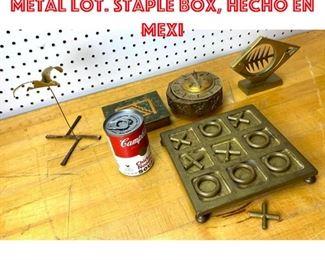 Lot 2539 Mid Century Modern Metal Lot. Staple box, Hecho en Mexi