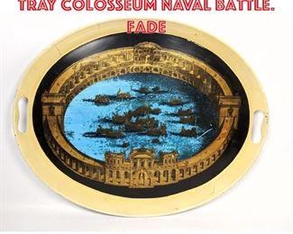 Lot 2550 Piero Fornasetti Oval Tray Colosseum Naval Battle. Fade