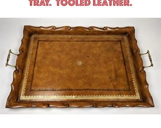 Lot 2559 MAITLAND SMITH Serving Tray. Tooled Leather.