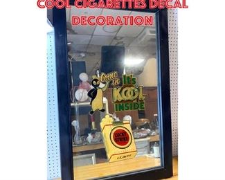 Lot 2561 Large Wall Mirror with COOL Cigarettes decal decoration