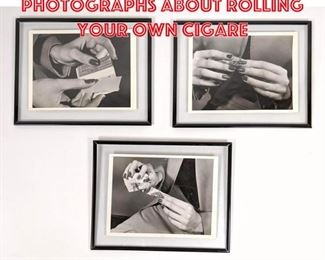 Lot 2564 Set 3 Vintage Photographs About Rolling Your Own Cigare