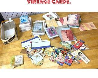 Lot 2565 Large lot vintage cards.