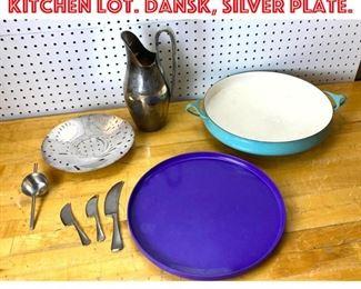 Lot 2566 Mid Century Modern Kitchen Lot. Dansk, Silver plate.