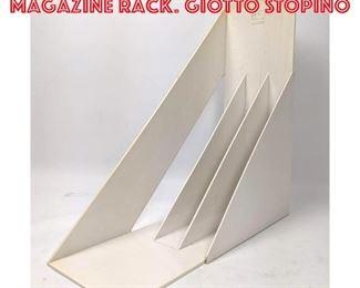 Lot 2573 HELLER White Plastic Magazine Rack. GIOTTO STOPINO