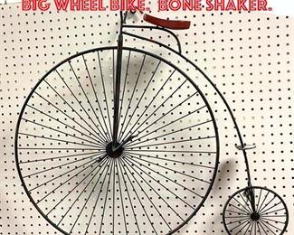 Lot 2585 C. JERE Wall Sculpture of Big Wheel Bike. Bone Shaker.