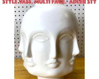 Lot 2589 Porcelain Fornasetti Style vase. Multi face. Adler sty