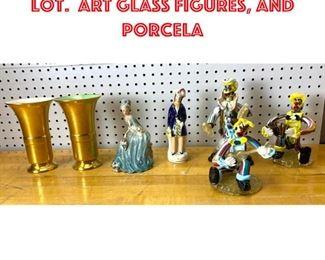 Lot 2600 Mid Century Modern Lot. Art glass figures, and porcela