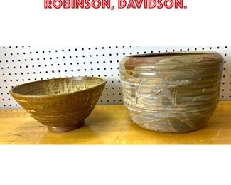Lot 2598 2 pcs Large Art Pottery. Robinson, Davidson.