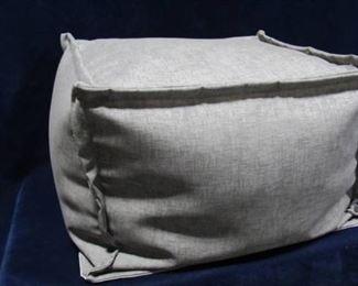 Comfy gray cube ottoman with mesh bottom