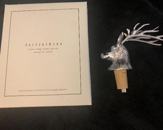 Pottery Barn Cork and pourer.  Numerous. Great gifts