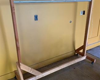 Wooden sturdy clothing rack $100