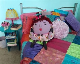 Handmade Humpty Dumpty cloth dolls, pillows, lamps, and more.